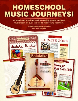 Homeschool Musical Journeys E-book - With Instrument Crafts And Coloring Pages