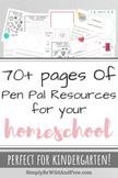 Homeschool Pen Pal Printable Bundle for Kindergarten & First Grade