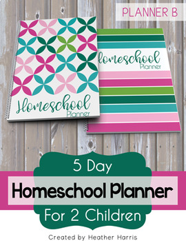 Homeschool Planner {2 kids} 2017-2018