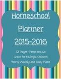 FREE Homeschool Planner 2015-2016
