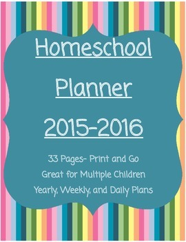 FREE Homeschool Planner 2015-2016