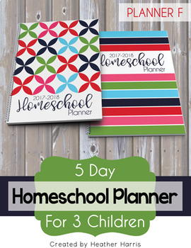 Homeschool Planner {3 kids} 2017-2018