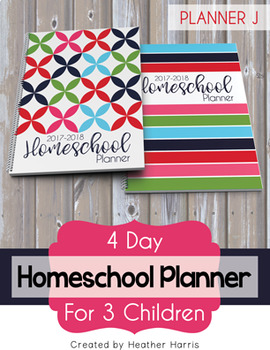 Homeschool Planner {3 kids} 2017-2018