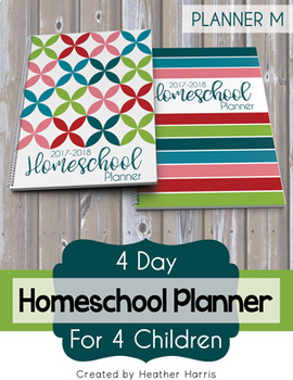 Homeschool Planner {4 kids} 2017-2018