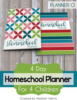 Homeschool Planner {4 kids} 2017-2018