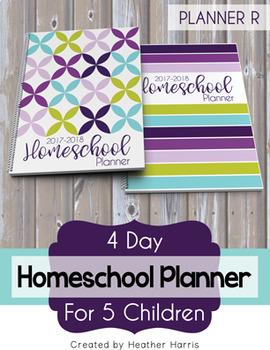 Homeschool Planner {5 kids} 2017-2018