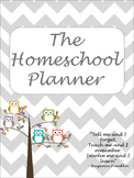 Homeschool Planner. 53 Owl themed Printable Pages for your homeschool planning.