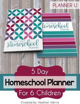 Homeschool Planner {6 kids} 2017-2018