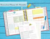 140+ pgs 2015-2016 Homeschool Planner - Complete Binder Set - Owl Theme