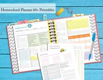 140+ pgs 2015-2016 Homeschool Planner - Complete Binder Se