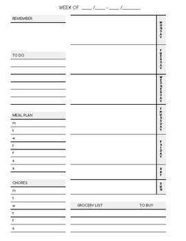 Homeschool Planner / Home Management Planner