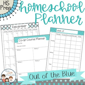 Homeschool Planner - Out of the Blue Style