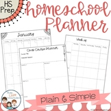 Homeschool Planner - Plain & Simple Style
