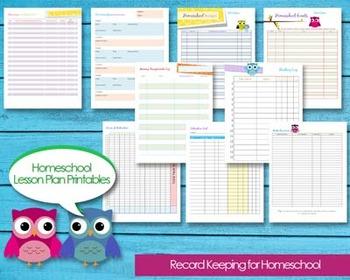 Homeschool Planner Records Attendance, Budget, Events, Grade Book, Progress