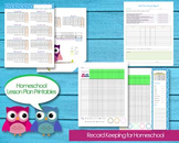 Homeschool Planner Records Attendance, Budget, Events, Gra