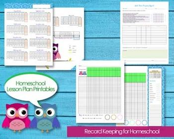 Homeschool Planner Records Attendance, Budget, Events, Gra
