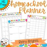 Homeschool Planner - Retro Brights Style
