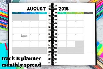 Homeschool Planner 2018-2019 Track B for 3 children
