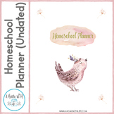 Homeschool Planner--Undated Watercolor