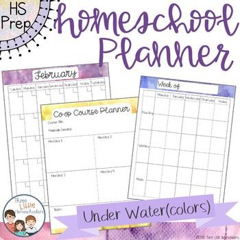 Homeschool Planner - Under Water(colors) Style
