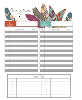 Home School Planner and 2017-2018 Record Book (Bohemian)