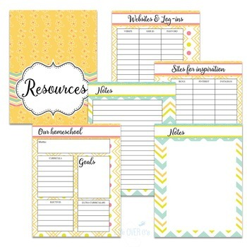 Homeschool Planner and Organizer: Cream Colors