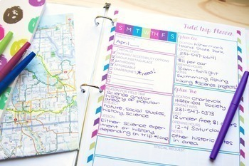 Homeschool Planner and Record Binder - Undated