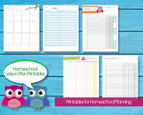 Homeschool Planning PreK through High School Editable