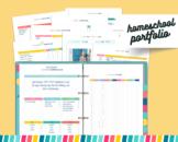 Homeschool Portfolio Bundle - Homeschool Attendance Tracker - Homeschool Planner
