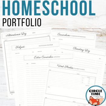 Homeschool Portfolio, Homeschool Planning, Homeschool Planner One Child