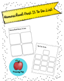 Homeschool Post It To Do Lists