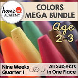 Preschool Curriculum COLORS 9 Weeks for Preschool, PreK, Homeschool Preschool
