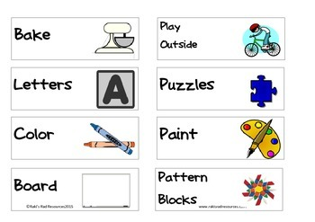 Homeschool Preschool Choice Cards