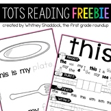 Homeschool Preschool Reading FREEBIE