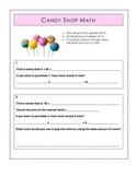 Decimals Real World Math: Candy Shop