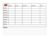 Homeschool Schedule  Blank