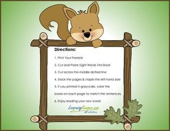 Homeschool Sight Word Flip Book