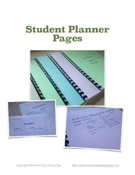 Homeschool Student Planner Pages