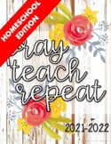 Homeschool Teacher's Planner 2021-2022{Rustic Floral}