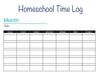 Homeschool Time Log