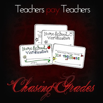 Homeschool Verification Card