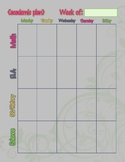 Homeschool Weekly Lesson Plan Fill-In Template, Simple & Easy
