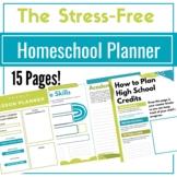 Homeschool Yearly Planner: Stress Free Homeschool Planner