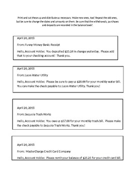Homeschooling Banking - Check Register, Editable Check Card, and Editable Checks