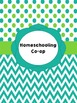 Homeschooling Binder Covers (Editable): Seafoam and Lime Dots and Chevron Theme