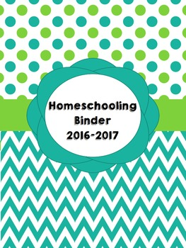 Homeschooling Binder Covers (Editable): Seafoam and Lime D