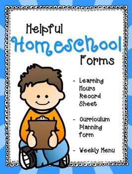 Homeschooling Forms Freebie