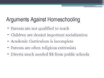 Homeschooling Should Not be Outlawed