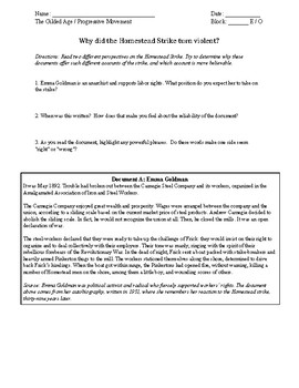 Homestead Strike Worksheet