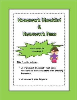 Homework Checklist (FREE)
